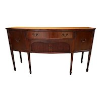 Mahogany Bow Front Sideboard in the Federal Style