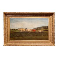 After Rosa Marie (Rosalie) Bonheur, 19th c Oil Painting Landscape, Plowing the Field
