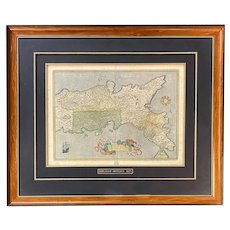 Abraham Ortelius 1603 Framed Map Print of Southern Italy
