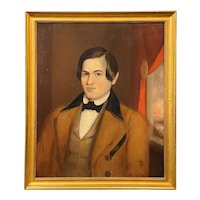 Early American Oil Painting Portrait of a Gentleman, Unsigned