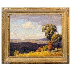 Andrew Thomas Schwartz Oil Painting of an Autumn Landscape