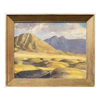 Rudolph Wedow Oil Painting Landscape, Probably New Mexico, 1947