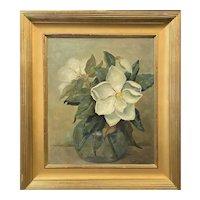 Martha Wheeler Wallace Baxter Oil Painting Still Life, Magnolias