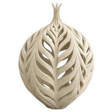 Jennifer McCurdy Art Pottery Ceramic Vessel, Wheat Bottle