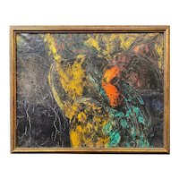 Zita Querido Abstract Expressionist Oil Painting 1963