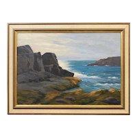 Lee Winslow Court Coastal Oil Painting, Light of the Sun, Probably Monhegan Island