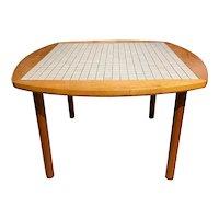 Tile Top Coffee Table by Gordon & Jane Marshall Martz for Marshall Studios, Veedersburg, IN