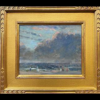 Arthur Clifton Goodwin Landscape Oil Painting of a Beach Scene