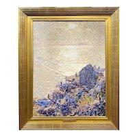 Van Dearing Perrine Impressionist Oil Painting, Dappled Light on the Ocean