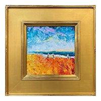 Stephen Motyka Rhode Island Impressionist Oil Painting, Charlestown Beach, Off Season