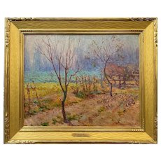 Frederick W. Glover Impressionist Oil Painting Landscape With Trees
