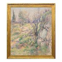 (Edward) Wilbur Dean Hamilton Impressionist Oil Painting, Landscape with a Rocky Path