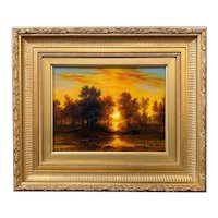 Erik Koeppel New Hampshire Landscape Oil Painting, Memory of Sunset