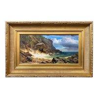 Erik Koeppel Maine Landscape Oil Painting, Monhegan Headlands