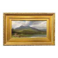 Erik Koeppel  New Hampshire Landscape Oil Painting, The Basin, Evans Notch