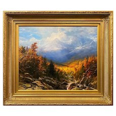 Erik Koeppel New Hampshire Landscape Oil Painting, Mt. Adams in Autumn