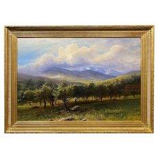 Erik Koeppel New Hampshire Landscape Oil Painting, Mt. Washington in Spring