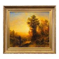 Erik Koeppel New England Landscape Oil Painting, The Fiddler