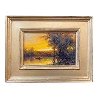 Erik Koeppel New England Landscape Oil Painting, Twilight