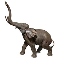 Cast Bronze Elephant of Great Proportion