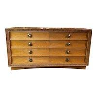 Paul Frankl Mid Century Eight-Drawer Oak Dresser for Brown-Saltman