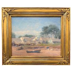 Alexis Jean Fournier Impressionist Landscape Oil Painting, While The Tide is Out, Provincetown