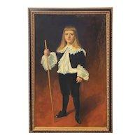 Isaac Caliga Oil Painting Full Portrait of a Boy