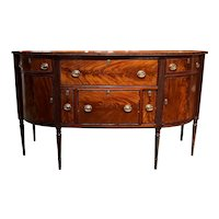 Federal Boston Mahogany Sideboard Attributed to the Seymour Workshop