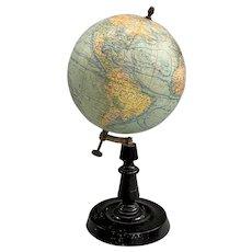 Small Table Top Terrestrial Globe by Girard et Barrère, Paris circa 1924-35