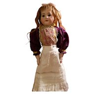 Victorian Purple Wool Doll Blouse
