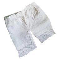 Antique White Cotton Doll Pantaloons