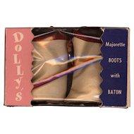 Leatherette Majorette Boots with Baton in Original Box
