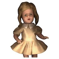 Vintage Yellow and White Check Doll Dress