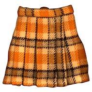 Vintage Wool Plaid Doll Skirt