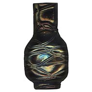 Antique Bohemian Kralik Threaded Vase