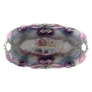 German Porcelain Pin Tray with Molded Cherry Design