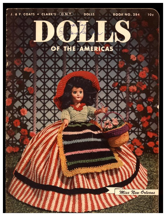 Vintage Crochet Patterns Magazine For Dress Me Dolls Micheles