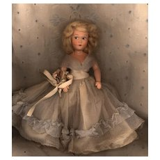 Hard Plastic Early Painted Eye Dress Me Doll