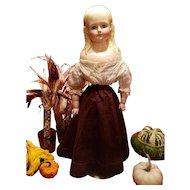 Antique Burgundy Brocade Doll Skirt