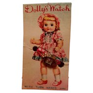 Vintage Doll Watch on Card