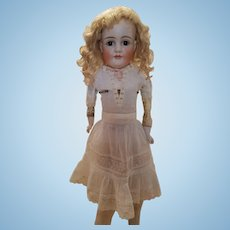 Antique White Cotton Doll Slip with Lace Inserts