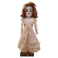 Antique White Cotton Doll Slip with Lace Ruffles