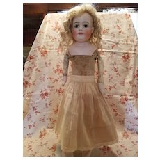 Antique Eggshell Cotton Doll Slip with Lace Edging