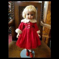 Vintage Red Velvet Doll Coat