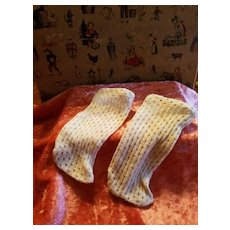Antique Factory Made Doll Stockings