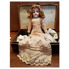 Antique Ecru Cotton Doll Dress