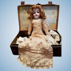Antique Ecru Cotton Doll Dress