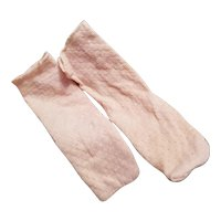 Antique Pale Pink Doll Stockings