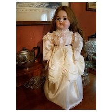 Vintage Pink and Cream Taffeta Doll Dress