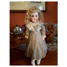 Vintage Cotton Paisley Doll Dress with Antique Lace